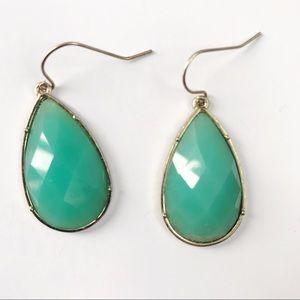 Teal teardrop earrings